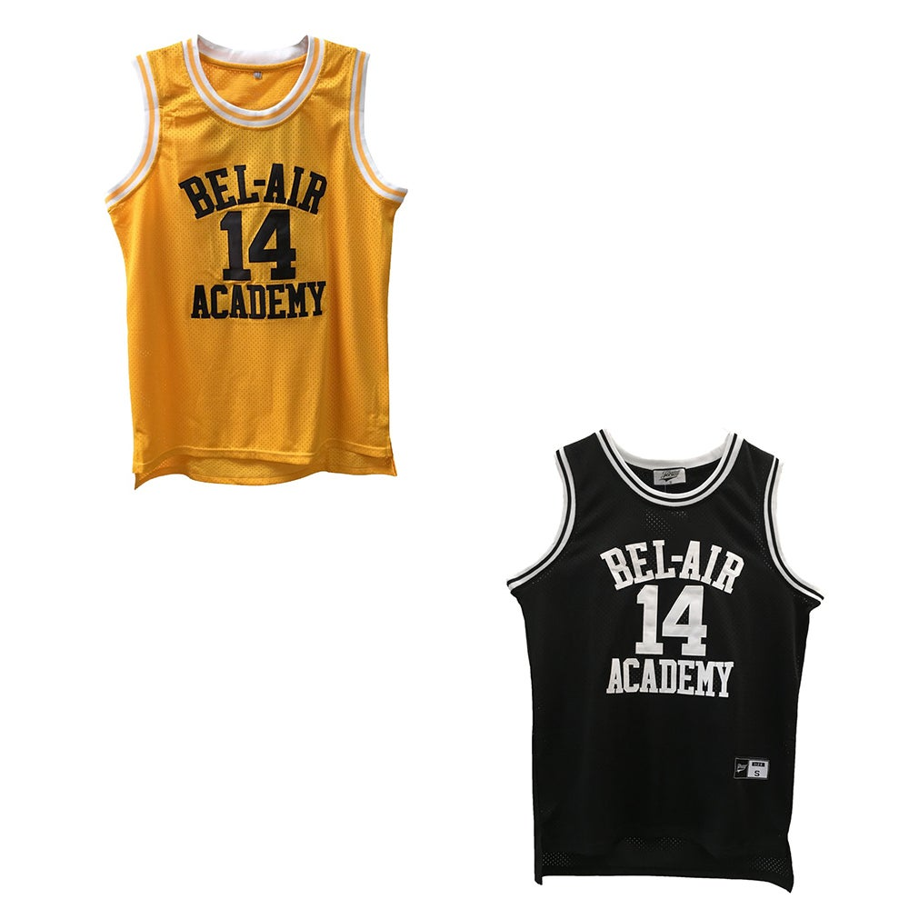 "Image of THE FRESH PRINCE OF BEL-AIR ""WILL SMITH #14"" BASKETBALL JERSEY"