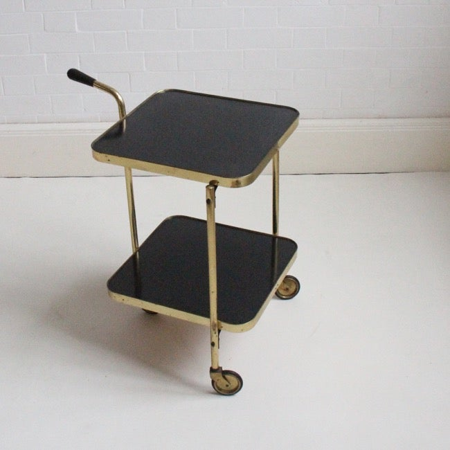Image of midcentury Brass trolley