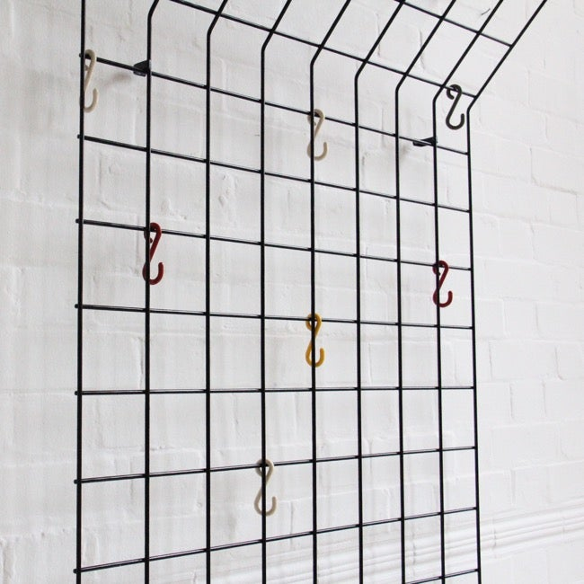 Image of Midcentury geometric coat rack by Karl Fichtel