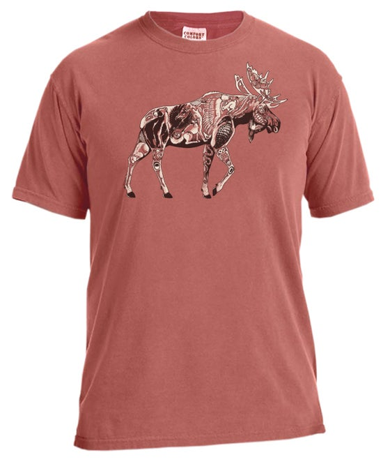 Image of Moose Tribe copper garment dyed t-shirt