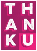 Image of Tak Thank U Greeting Card - Thanks Typograpy Stationery