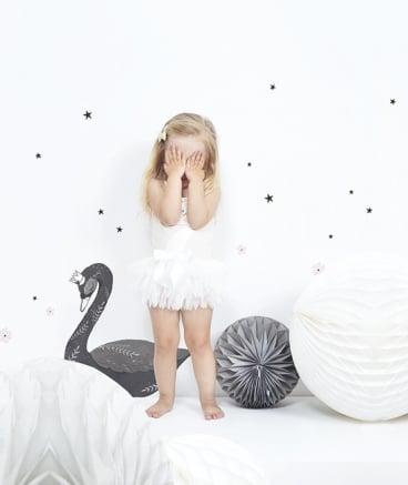 "Image of Vinilo infantil ""Cisne negro"""
