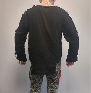 Image of ZEX Break Free black gauze bondage shirt