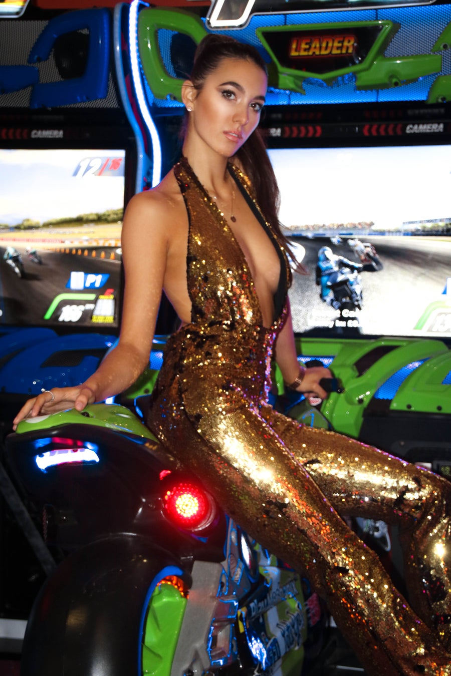 Image of Gold Flip Sequin Jumpsuit