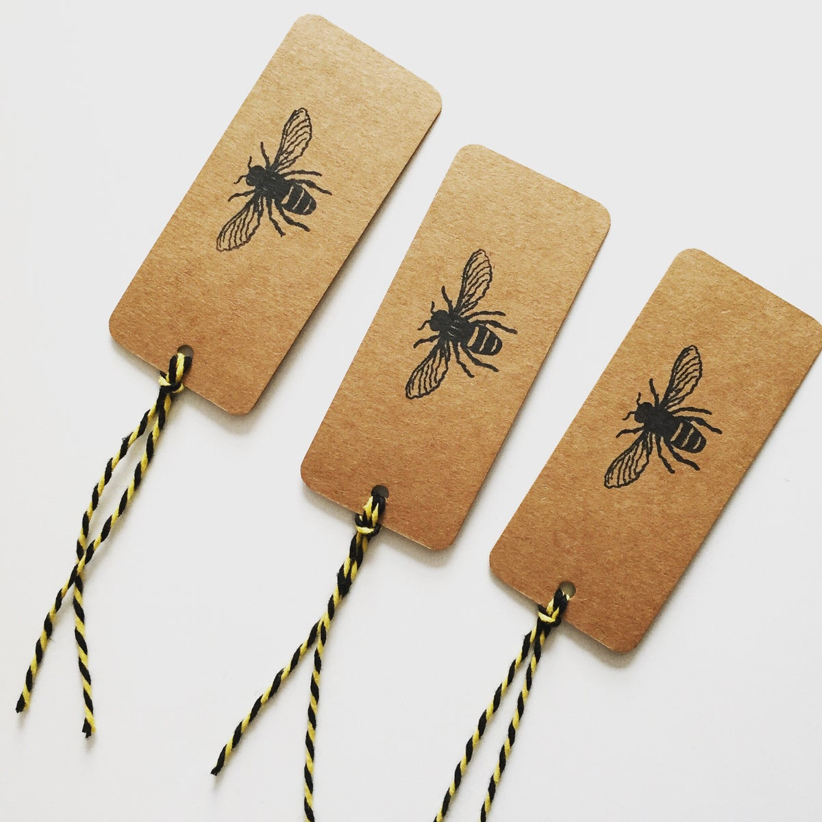 Image of Manchester Worker Bee Gift Tag - Pack of 3