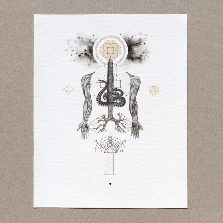 Image of The Spinal Serpent | Limited Edition Giclée Print
