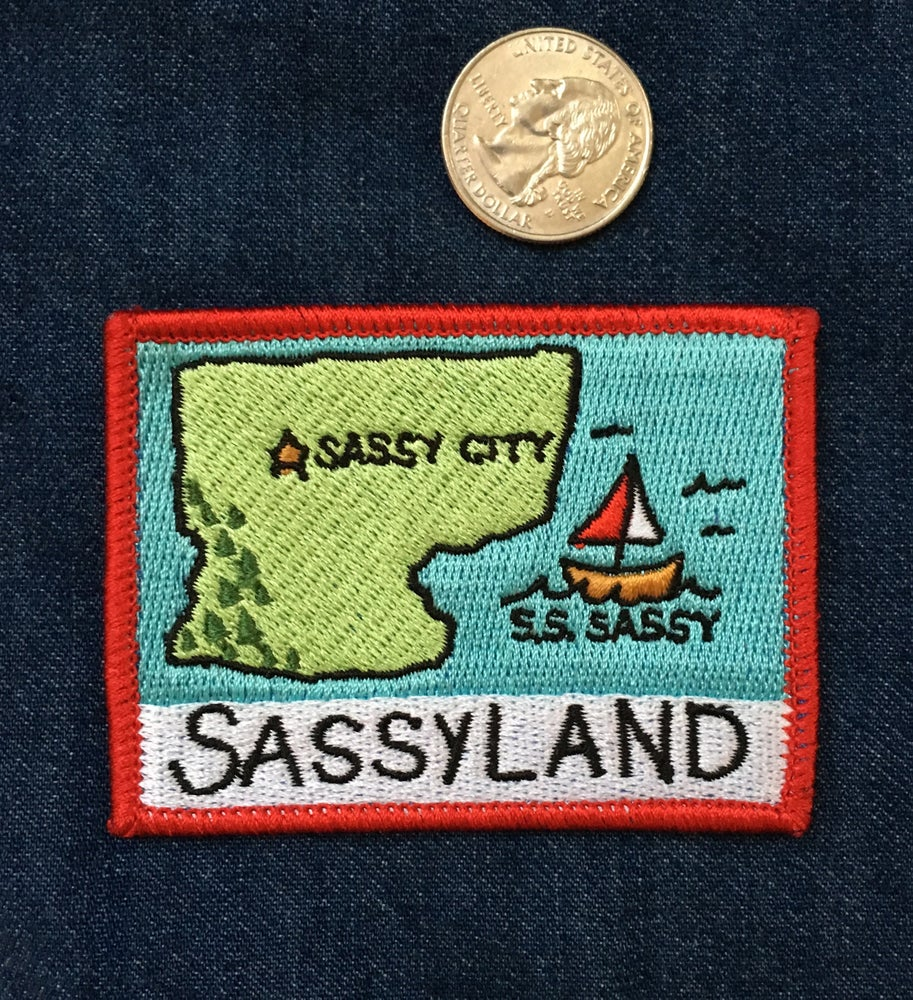 Image of Sassyland- Iron on Patch