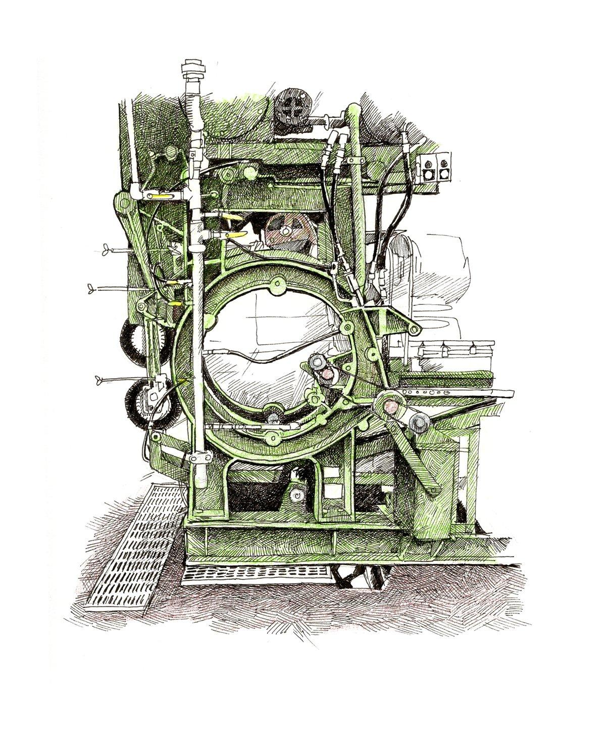 "Image of Salmon Processing Machinery No. 1  8"" X 8"""