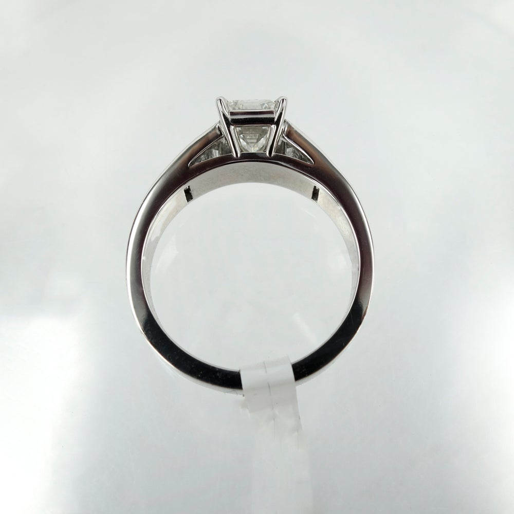 Image of Emerald Cut Diamond Modern Ring