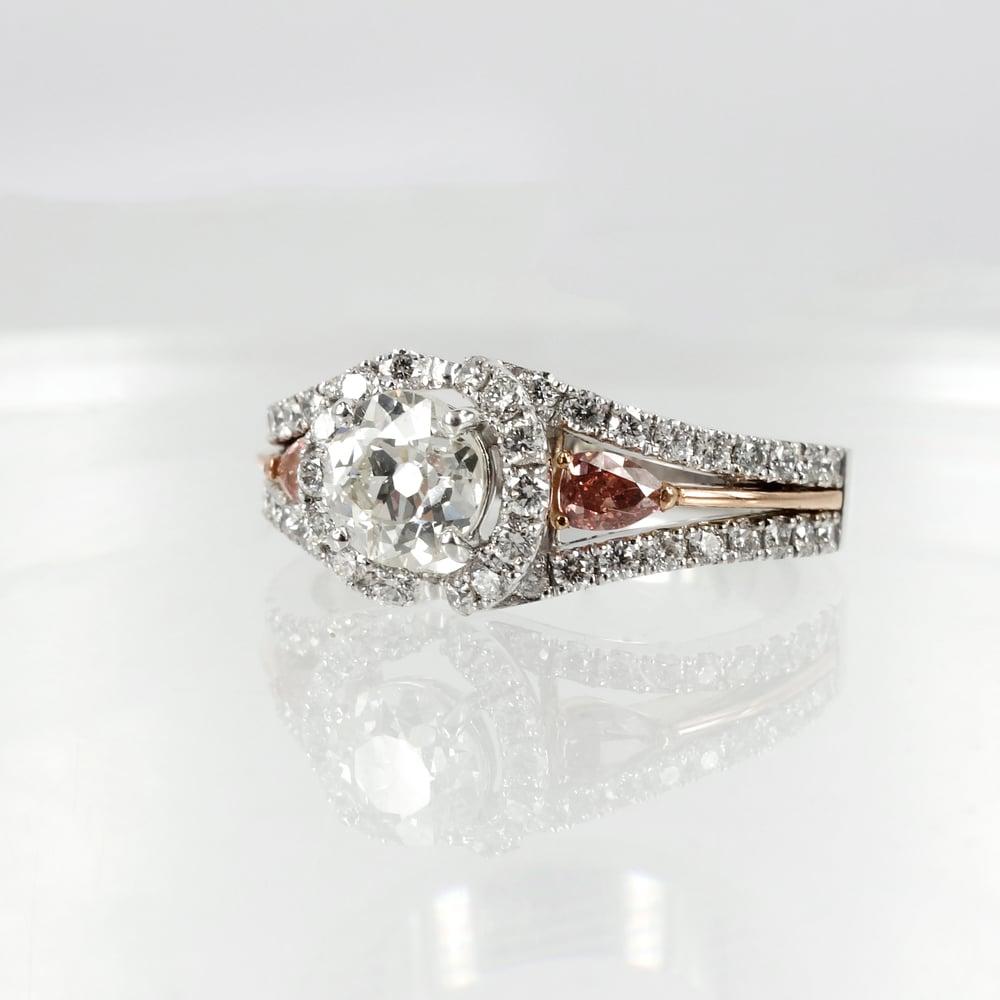 Image of Pink Argyle diamond engagement ring