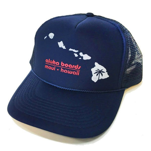 Image of Aloha Boards Navy Foam Trucker Hat
