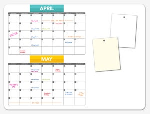 Image of Customizable, Dry-Erase, Magnetic Calendar