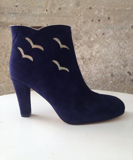 Image of Boots BIRDS (Patricia Blanchet) - Bleu Baltique