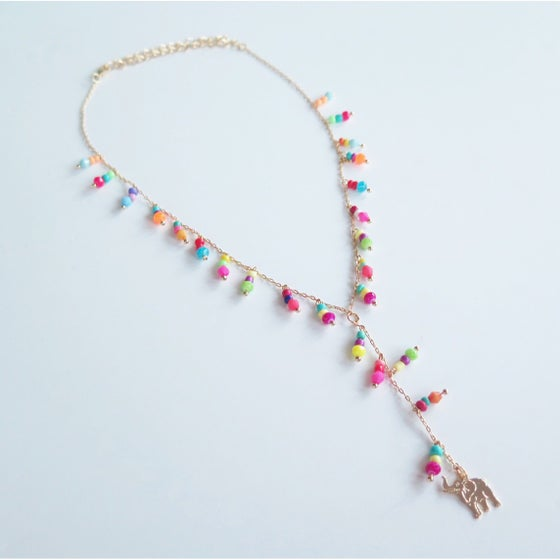 Image of Plunge Multicolor Elephant Necklace