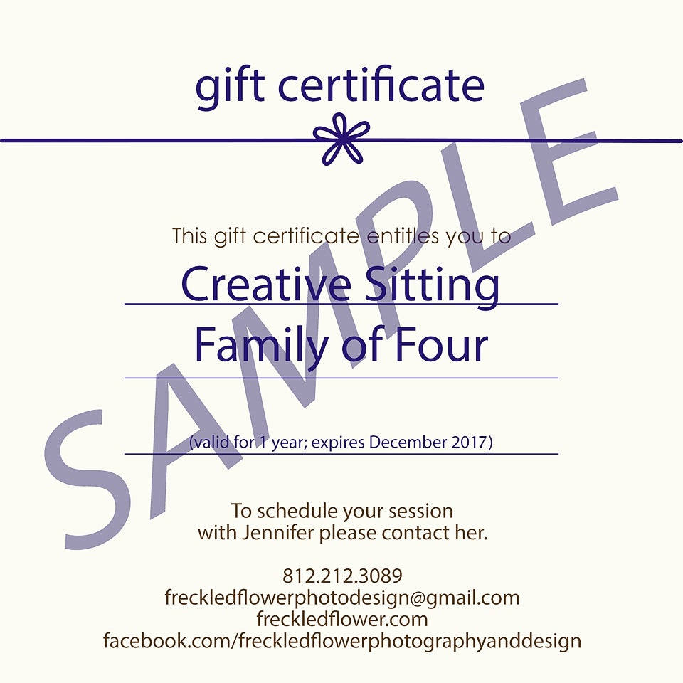 ... Image of Gift Certificates - Mini-Session