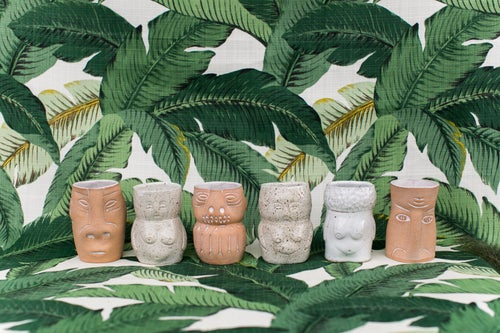 Image of Tiki Cocktail Lady Cups