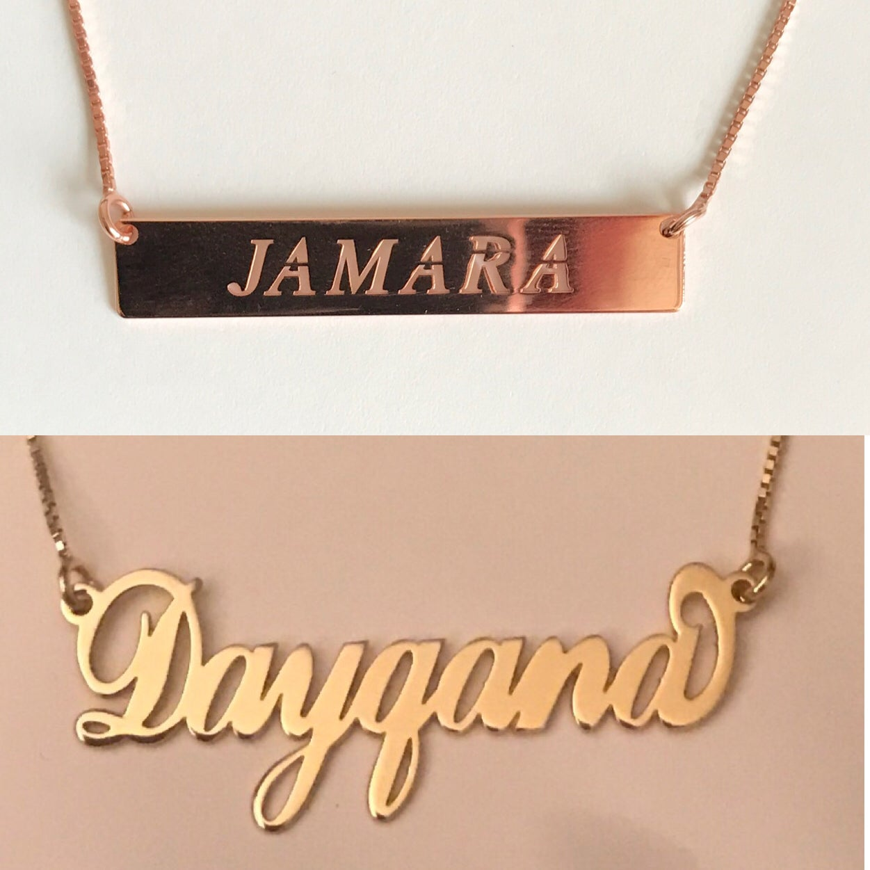 Image of Customized Nameplate Pendants
