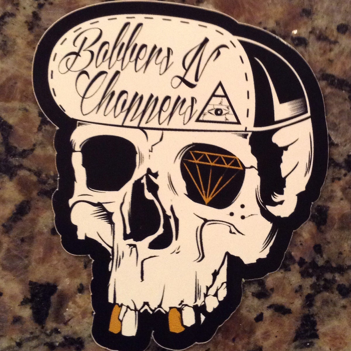 Image of Traditional Skull sticker