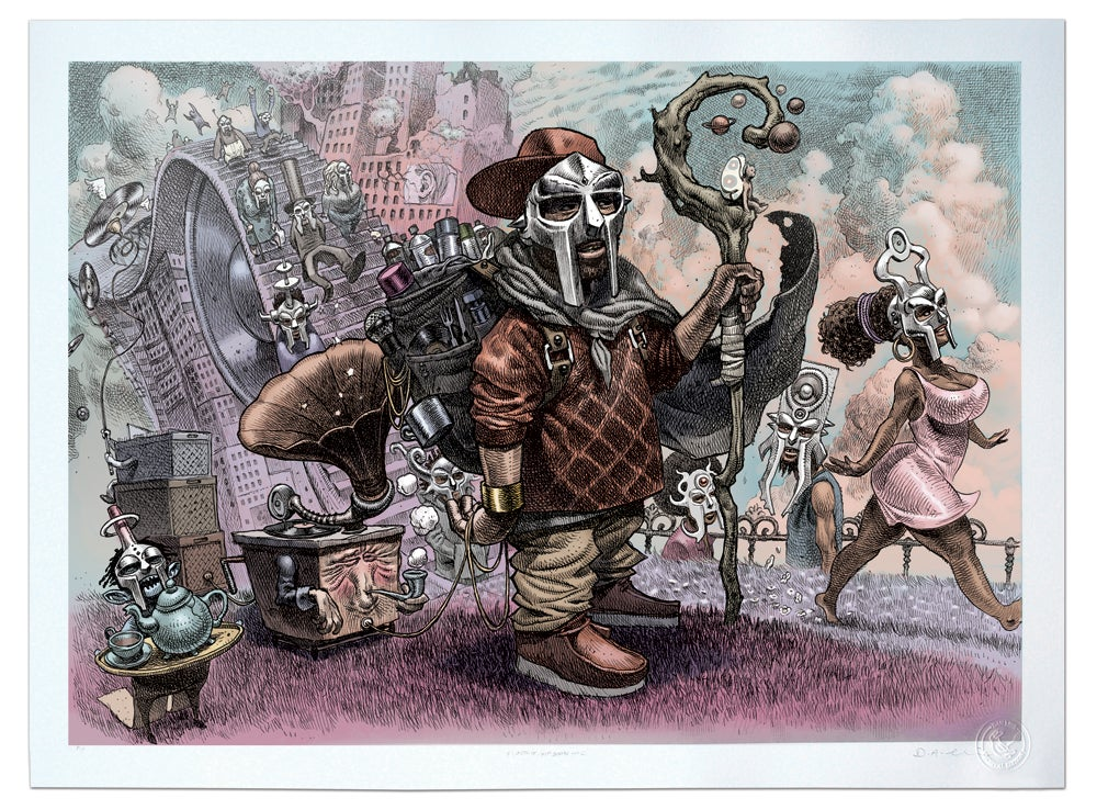 Image of MF DOOM (DOOM Stroll) - Limited Edition Lithograph Print A2