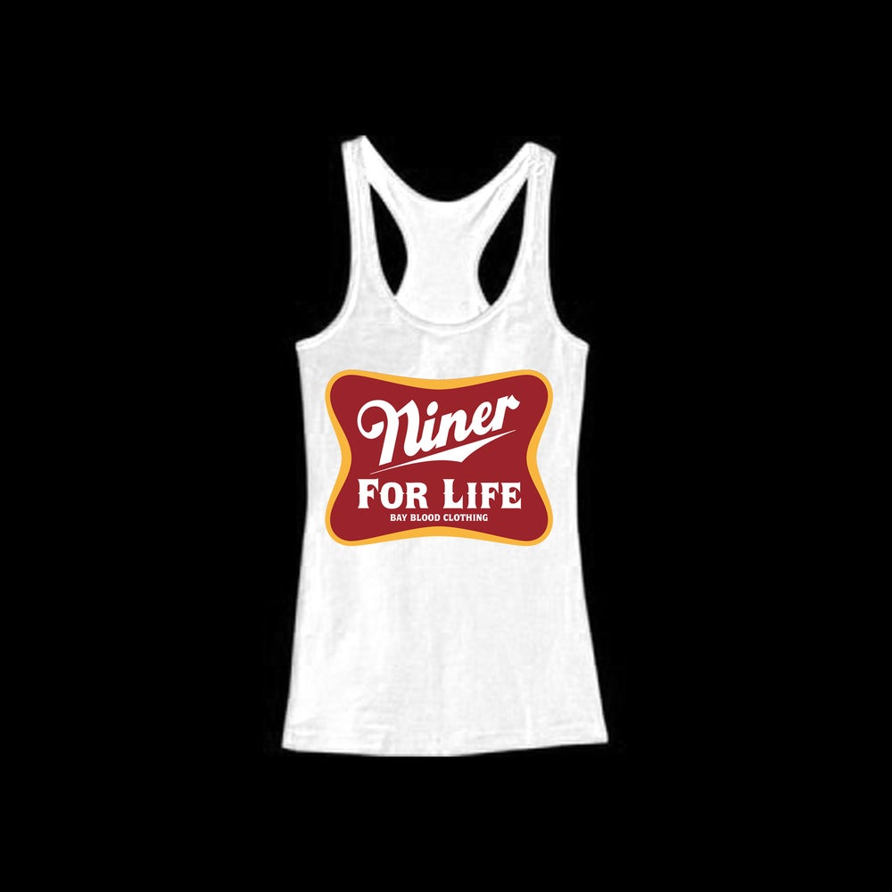 Image of Women's NIner For Life Racer Back Tank (white)