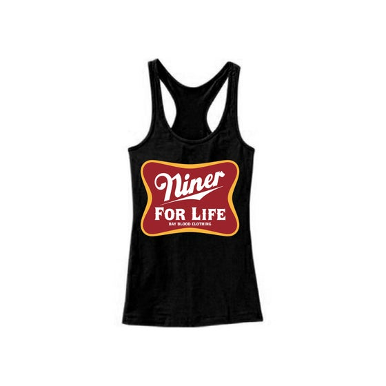 Image of Women's Niner For Life Racer Back Tank (black)