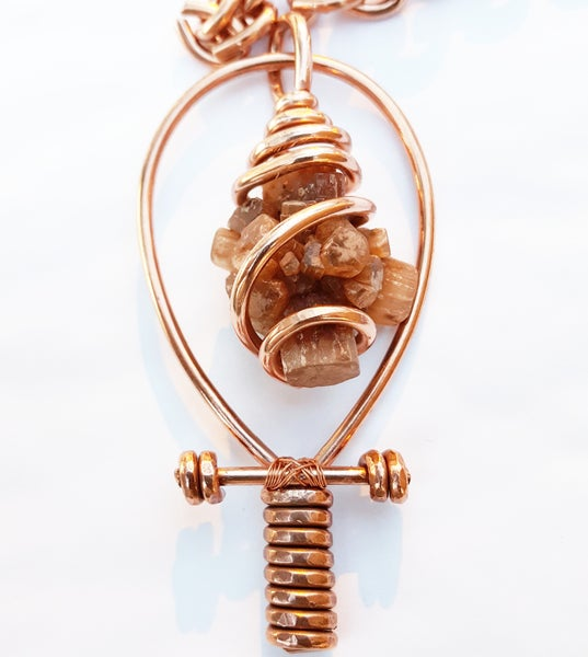 Image of Fully Wrapped Aragonite Star Cluster Ankh