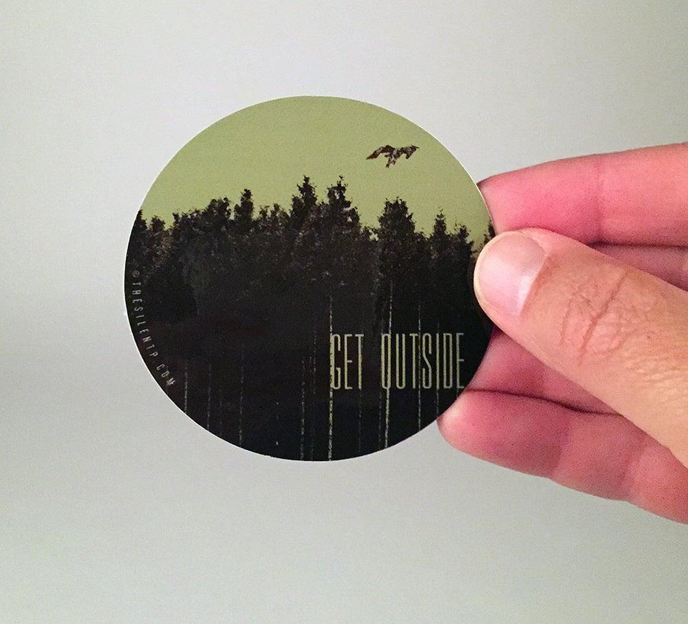 """Get Outside"" vinyl sticker"