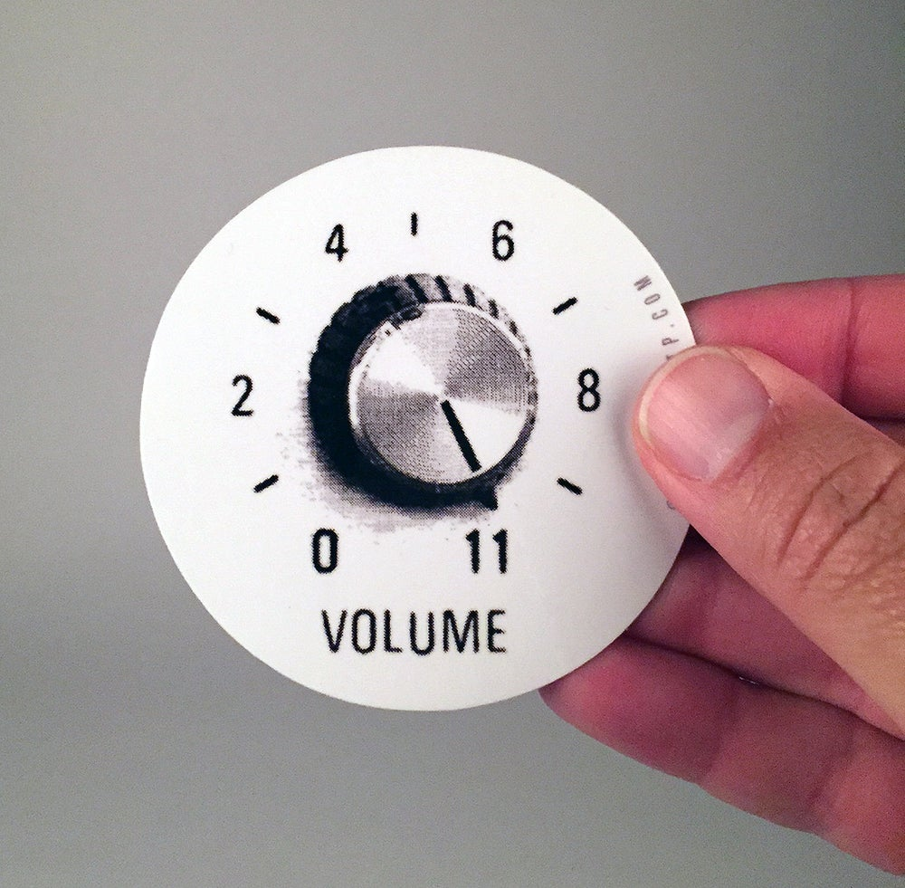 "Image of ""Volume Turned up to 11"""