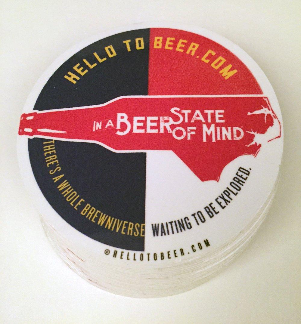"In a Beer State of Mind 3"" vinyl sticker"