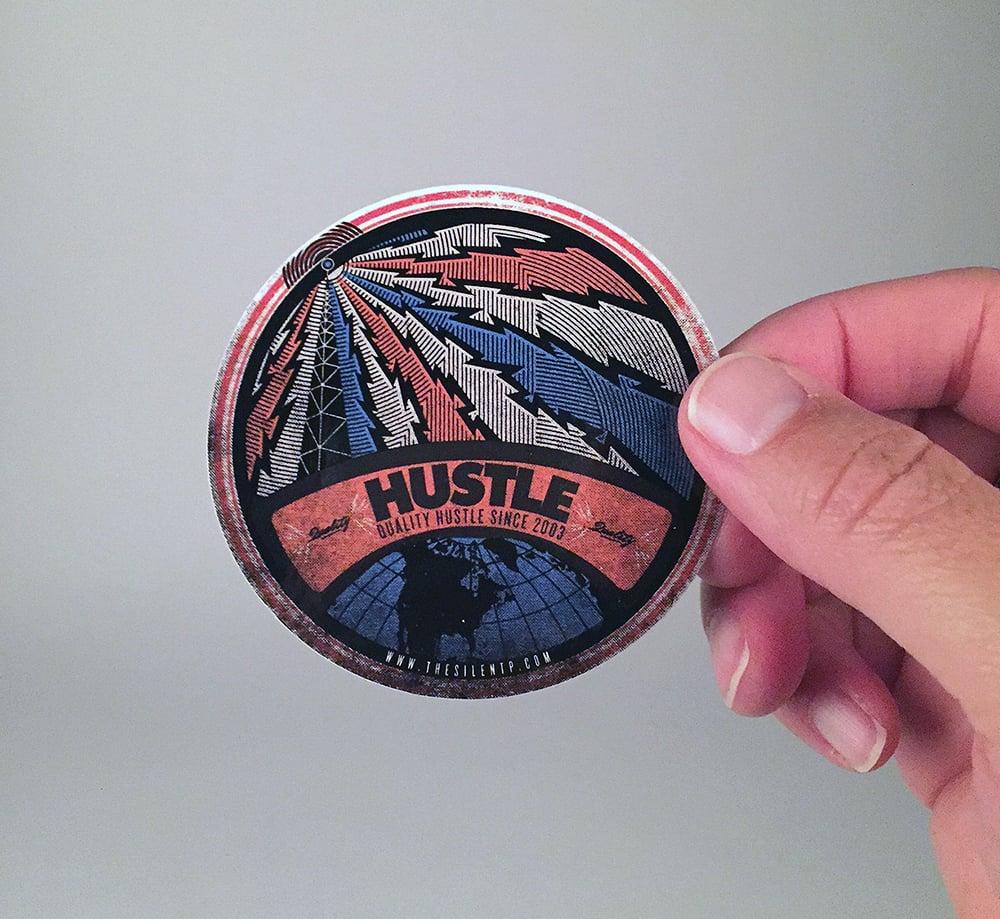 """Hustle"" vinyl sticker"