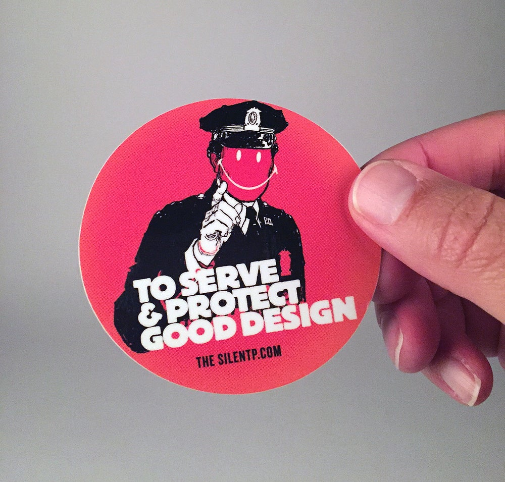 "Image of ""To Serve and Protect"" vinyl sticker"