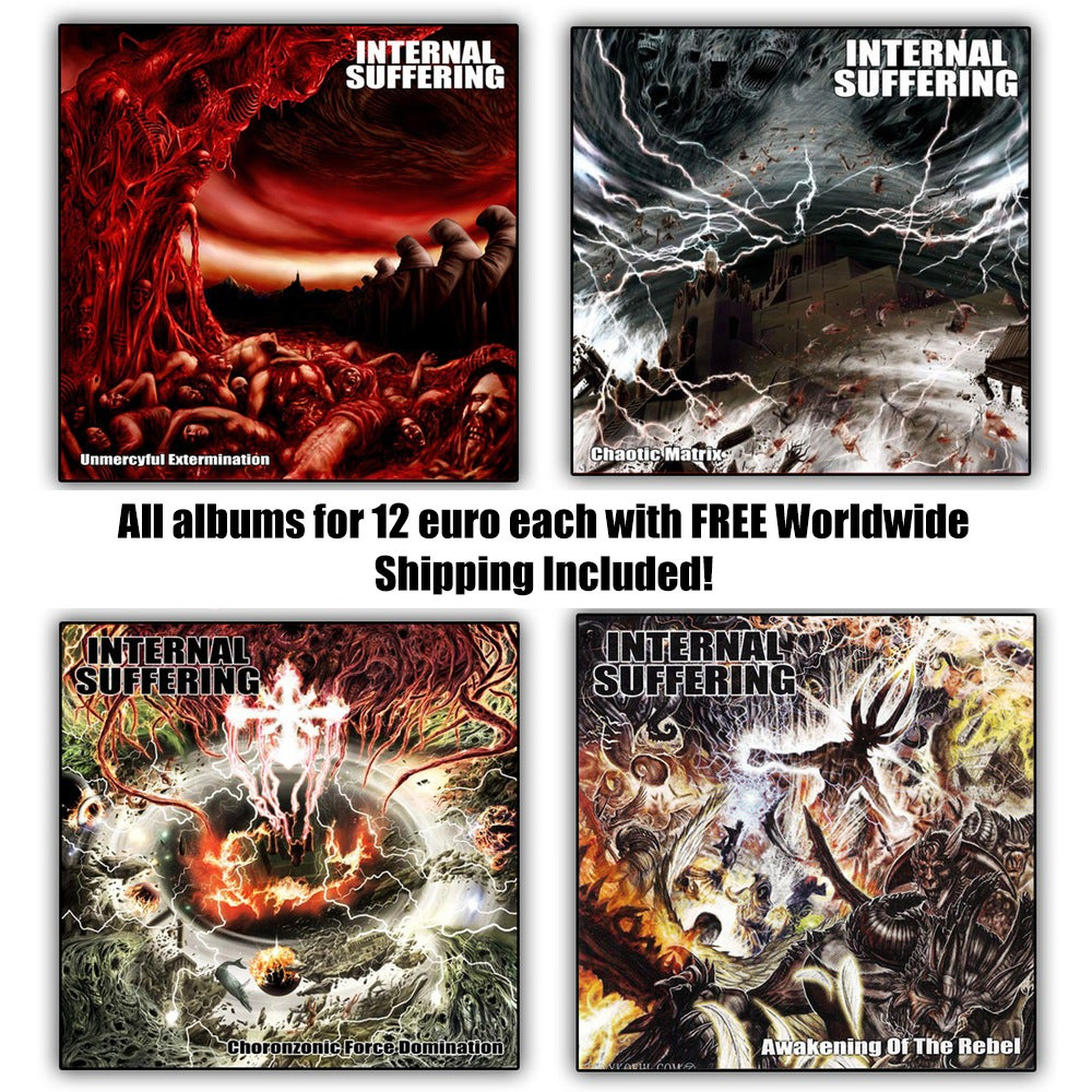 Image of INTERNAL SUFFERING - Albums on CD format