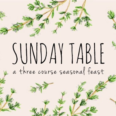 Image of Sunday Table 4th June 2017