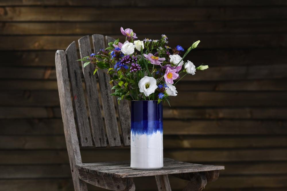 Image of 'Moonlit Lustre' tall vase