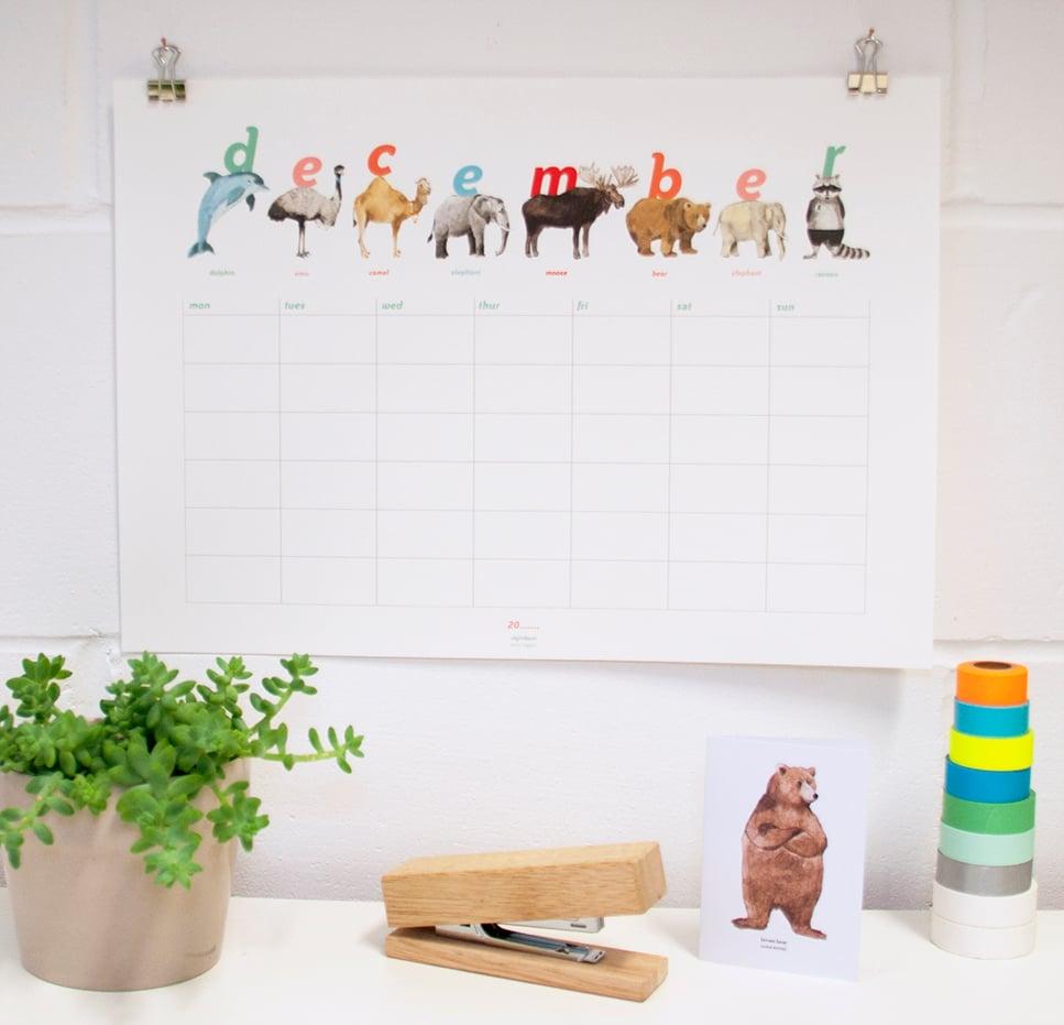 Image of Animal Calendar