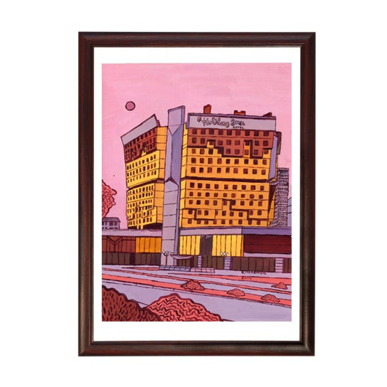 Image of Original Painting: Sarajevo's Holiday Inn