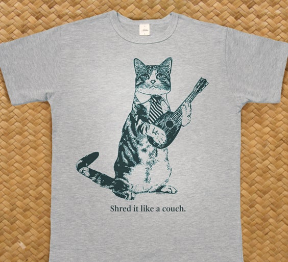 "Image of Cat T-Shirt ""Shred it like a couch"""