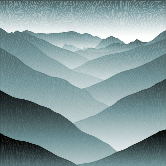 Image of Mountains Greeting Card