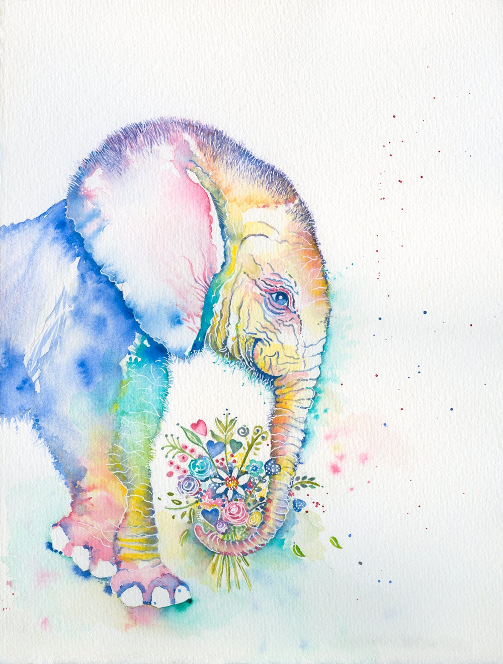 "Image of ""Tahlee the baby Elephant"" with FREE SHIPPING"