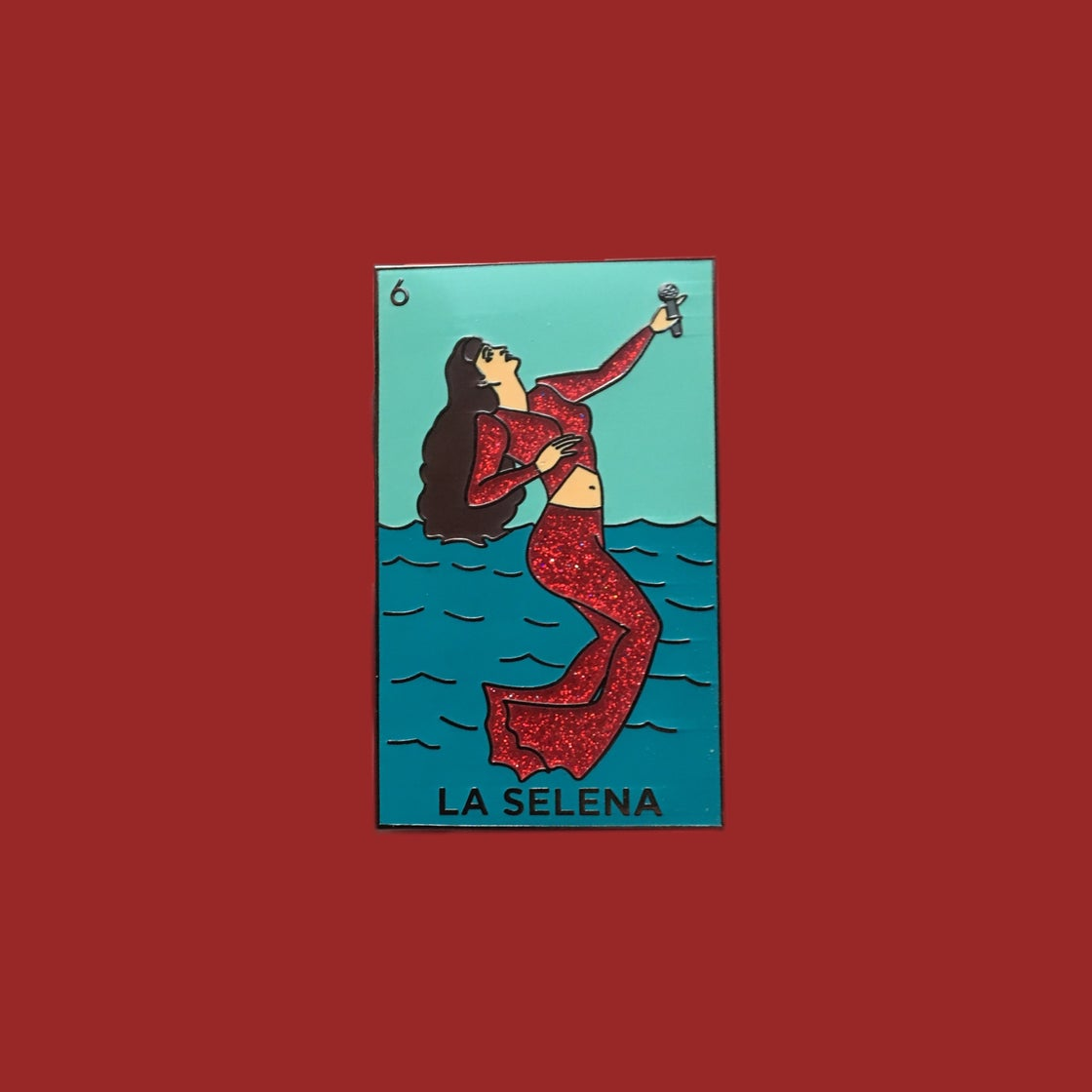 "Image of ""LA SELENAS"" lapel pin"