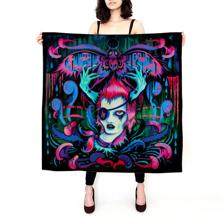 "Image of ""Fade Into The Dark Stars"" SILK Scarf PREORDER"