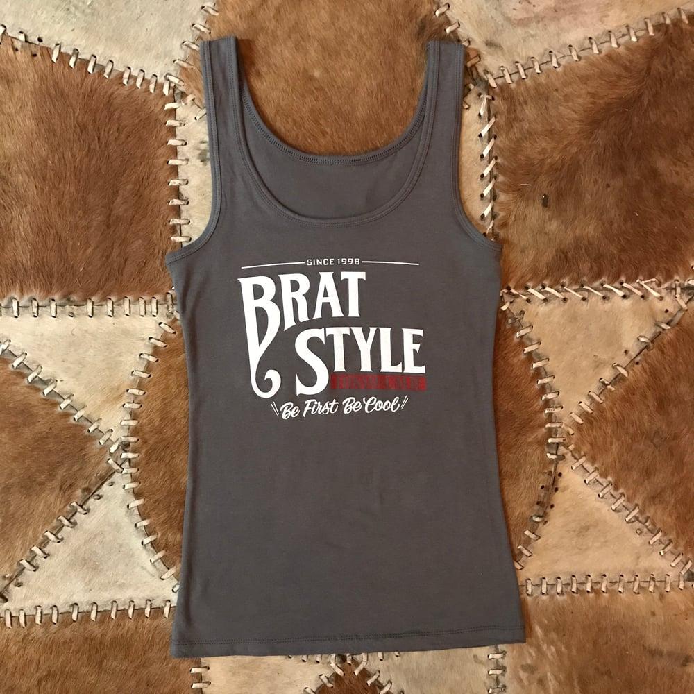 Image of BRAT STYLE WOMEN'S TANK TOP GREY