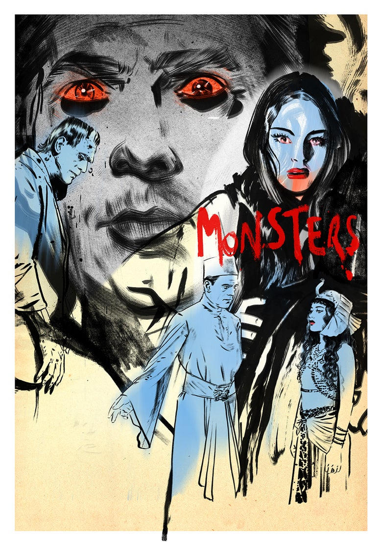Image of UNIVERSAL MONSTERS SCREENING LTD ED POSTER