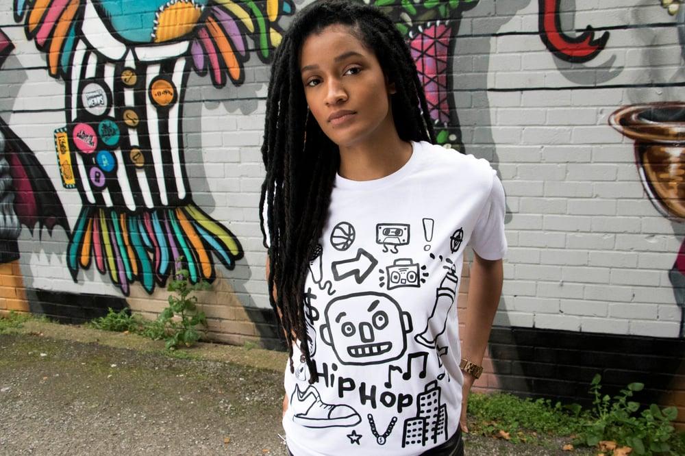 Image of White Graffiti Doodle T-Shirt