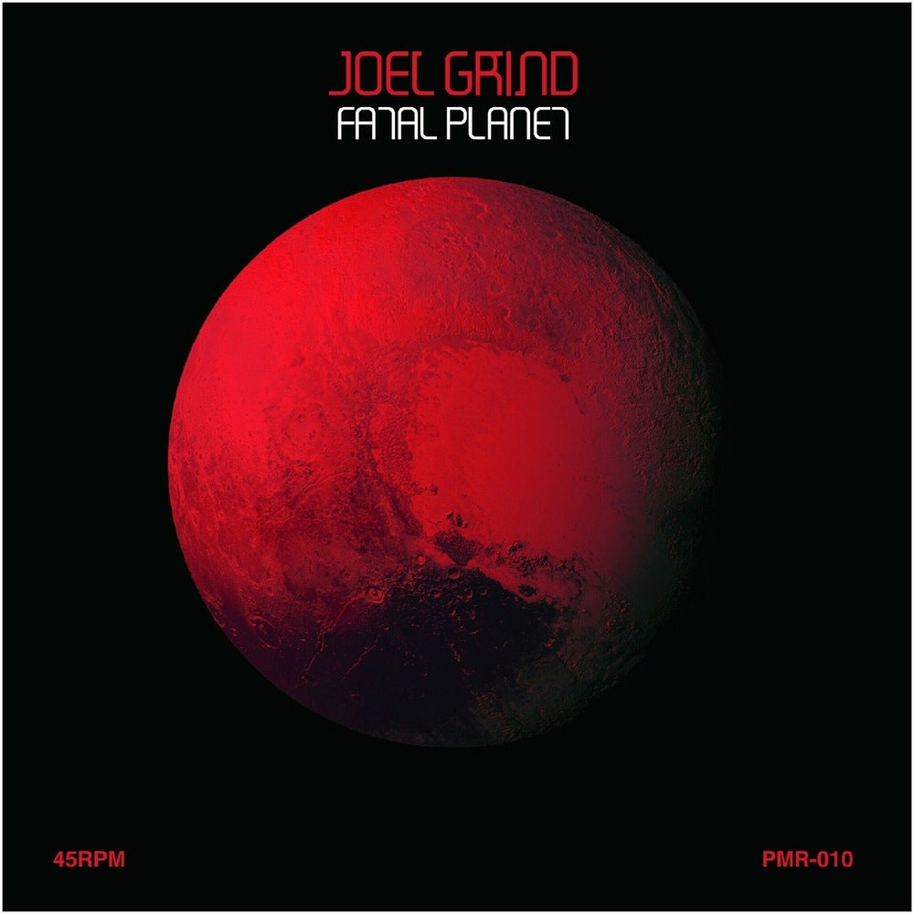 """Image of Joel Grind: Fatal Planet 7"""" Red & Black split color vinyl 138 pressed"""