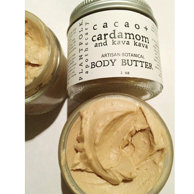 Image of cacao + cardamom and kava kava body butter