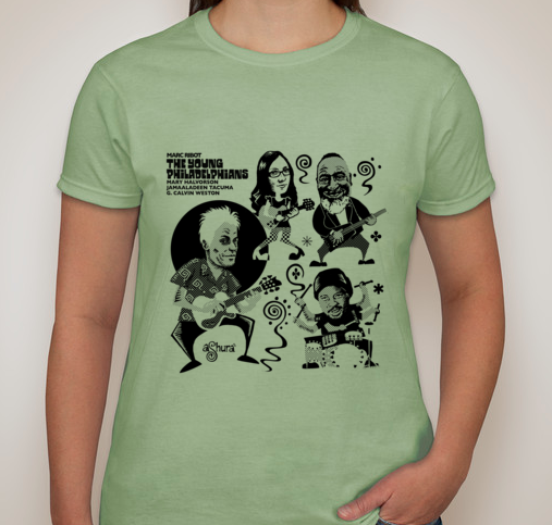 The Young Philadelphians - T Shirt WOMENS PISTACHIO
