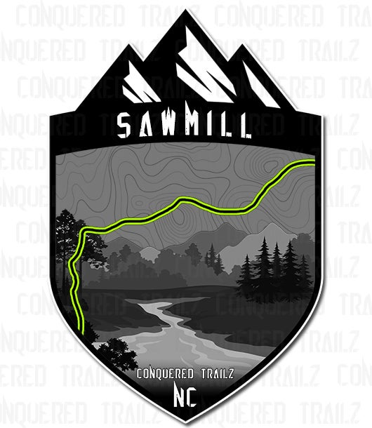 """Image of """"Sawmill"""" Trail Badge"""