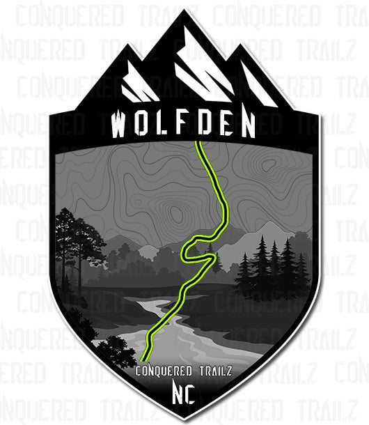 """Image of """"Wolfden"""" Trail Badge"""