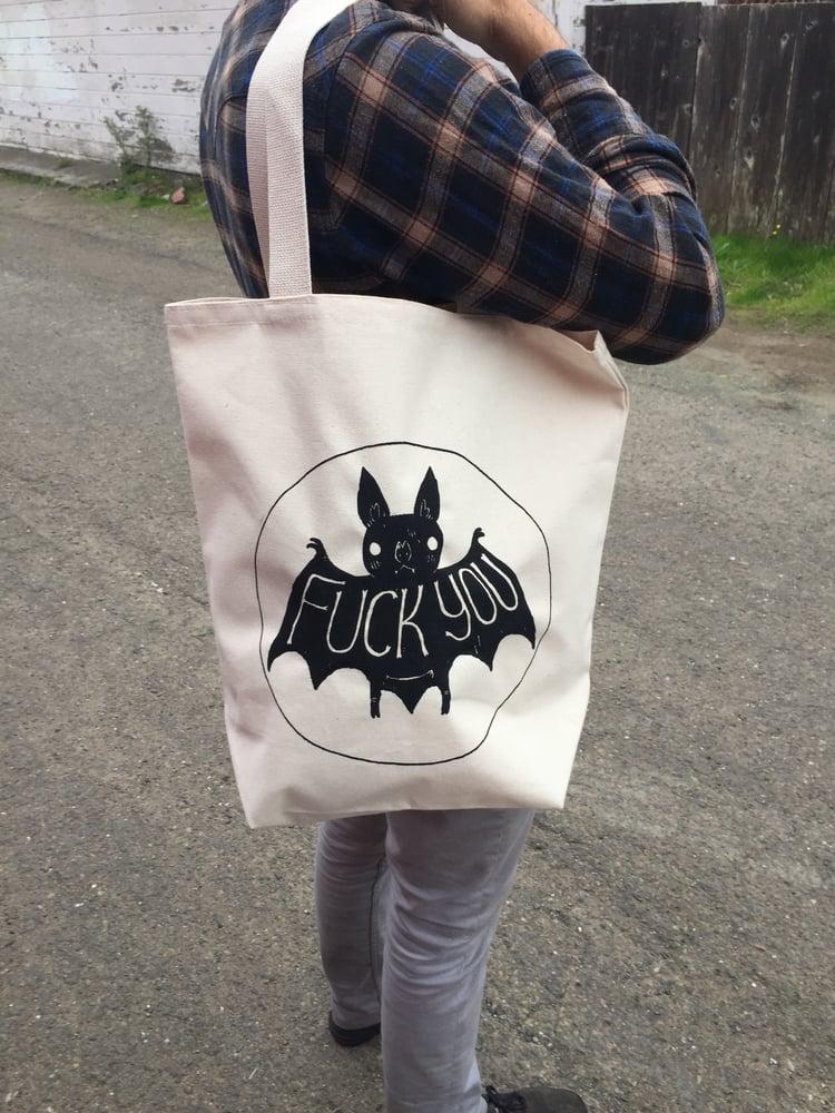 Image of Fuck You Bat Tote Bags